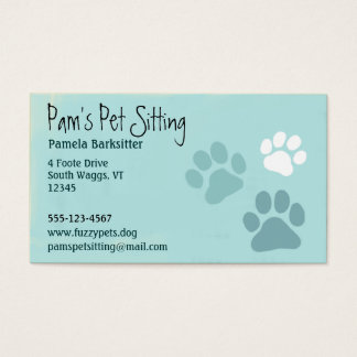 Pet Paw Prints Animal Lover Business Card