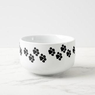 Pet Paw Prints Soup Mug