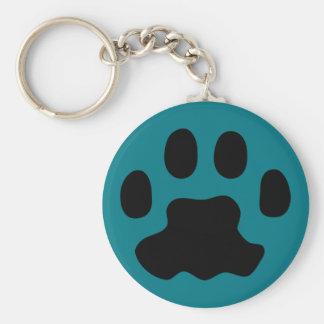 pet paws basic round button key ring