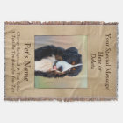 Pet Photo 3 Text Boxes Personalised Throw Blanket
