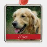Pet Photo customisable Silver-Colored Square Decoration