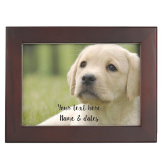 Pet Photo Memorial - Add Your Photo - Dog Photo Keepsake Box