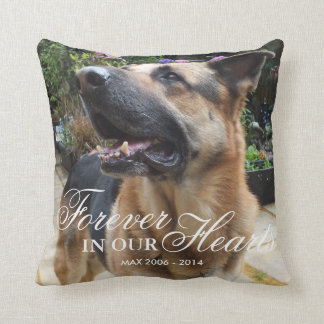 Pet Photo Memorial Gift | Forever in our Hearts Cushion