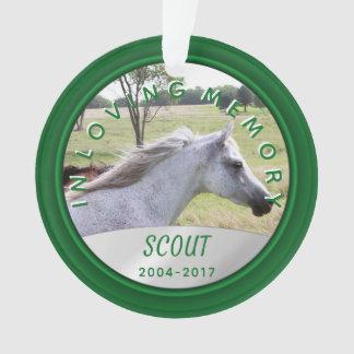 Pet Photo Memorial Ornament In Loving Memory Green