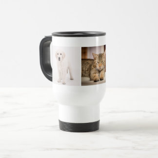 Pet photo personalised travel mug