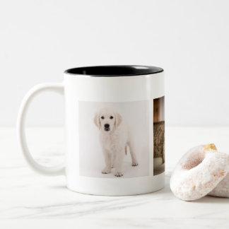 Pet photo personalised Two-Tone coffee mug