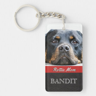 Pet Photo Personalized   Rottie Mom Rottweiler Dog Key Ring