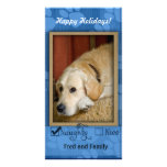 Pet Photo Template - Naughty or nice Personalised Photo Card