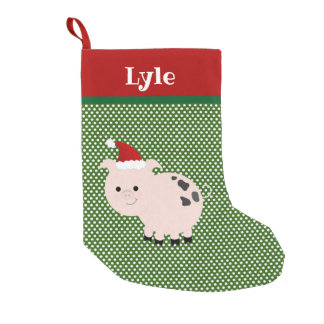 Pet Pig With Santa Hat Stocking