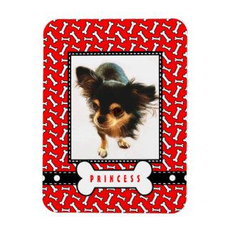 Pet Portrait Fridge Magnet with Your Dog's Photo