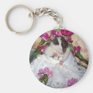 Pet Rat Bride Trudy Keychain