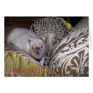 Pet rat, Duncan Birthday Card