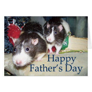 Pet Rat Father's Day Card