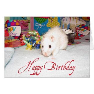 Pet Rat Marta Birthday Card