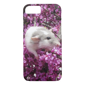 Pet Rat Rahab in Blossoms iPhone 7 Case