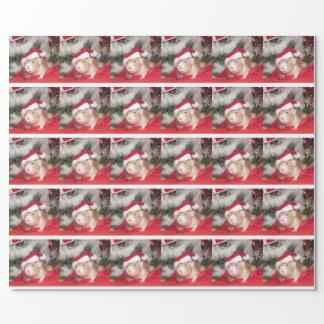Pet rat Santa Birch Holiday Wrapping Paper