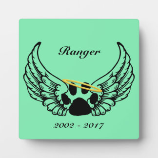 Pet Remembrance Tabletop Plaque with Easel