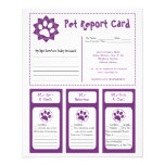 Pet Report Cards Personalized Flyer