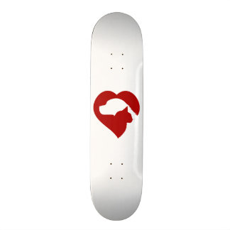 Pet Rescue Cat and Dog Red Heart of Love Skate Board