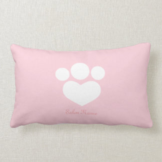 Pet Salon Spa Groomer Personalized Baby Pink Lumbar Cushion