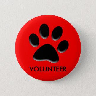 pet shelter, animal rescue, volunteer ID badge,pin 6 Cm Round Badge