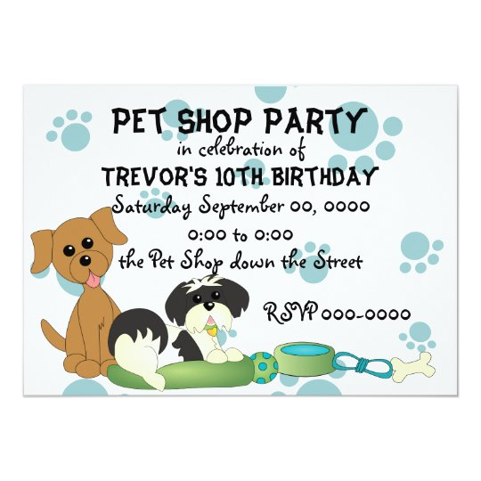 Pet Shop Party Card