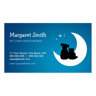 Pet Sitter Animal Care business card