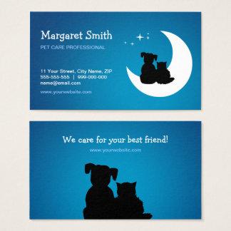 Pet Sitter Animal Care Vet business card