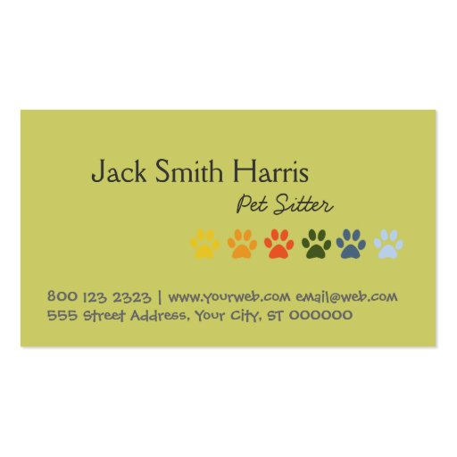 Pet Sitter Bold and Elegant Business Card Templates