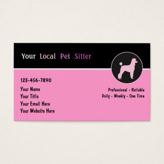 Pet Sitter Business Cards