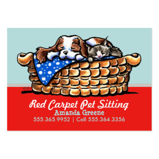 Pet Sitter Care Business CKCS w/ Cat Cherry Pack Of Chubby Business Cards