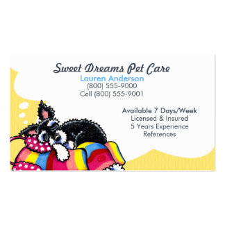 Pet Sitter Care Business Schnauzer Puppy Yellow Double-Sided Standard Business Cards (Pack Of 100)