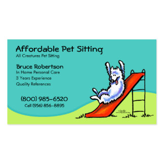 Pet Sitter Dog Day Care Business Pack Of Standard Business Cards