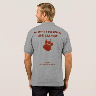 Pet Sitter & Dog Walker Paw Print Polo Shirt