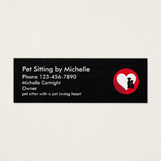 Pet Sitter Double Side Design Mini Business Card