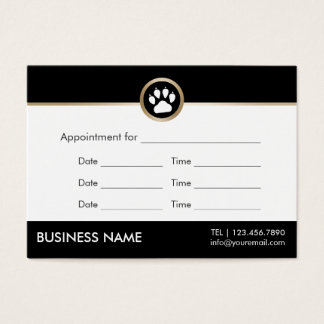 Pet Sitter Pet Salon Modern Paw Logo Appointment Business Card