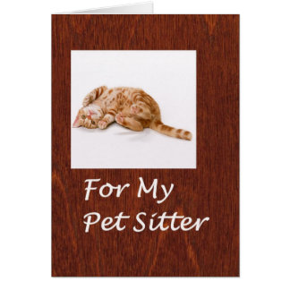Pet Sitter Thank You Card