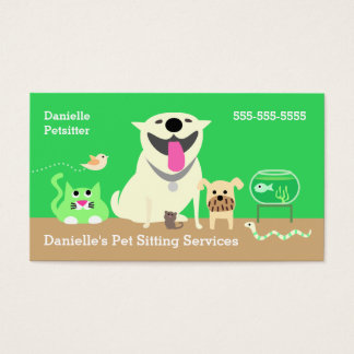 Pet Sitters Business Card-green