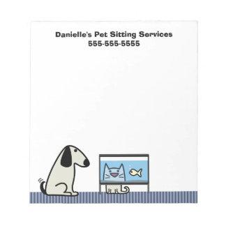 Pet Sitter's Business Notepad