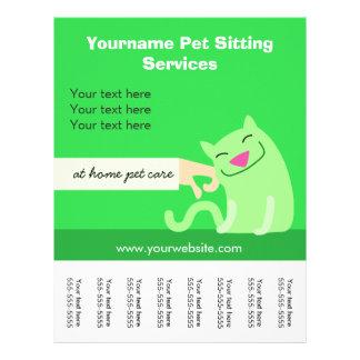 Pet Sitter's Cat Flyer-green 21.5 Cm X 28 Cm Flyer