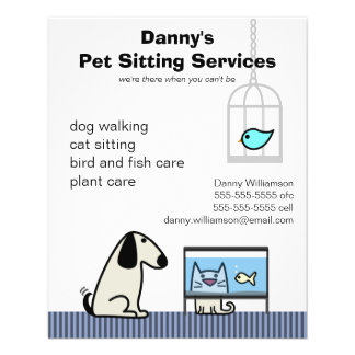 Pet Sitter's Dog Cat & Aquarium 11.5 Cm X 14 Cm Flyer
