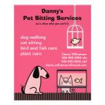 Pet Sitter's Dog & Cat Red 11.5 Cm X 14 Cm Flyer