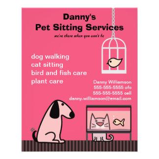 Pet Sitter's Dog & Cat Red Flyer