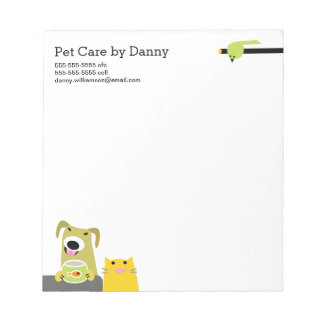 Pet Sitter's Notepad