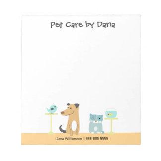 Pet Sitter's Notepad