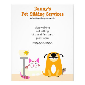 Pet Sitter's Promotional 11.5 Cm X 14 Cm Flyer