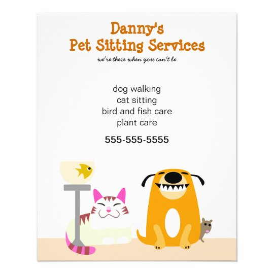 pet sitter s promotional flyer zazzle   au