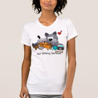 Pet Sitting Body Billboard T-shirt