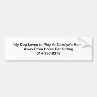 Pet Sitting Bumper Sticker