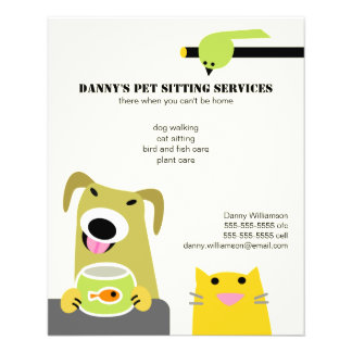 Pet Sitting Business 11.5 Cm X 14 Cm Flyer